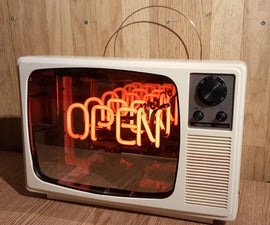 1970s Neon Infinity Television
