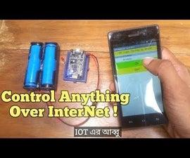 IOT Light Control Over Internet _NodeMCU ESP8266