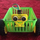 BasketBot - a Robot Car Made With a Plastic Basket