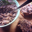 Duck rillettes (potted duck) with star anise & rosemary