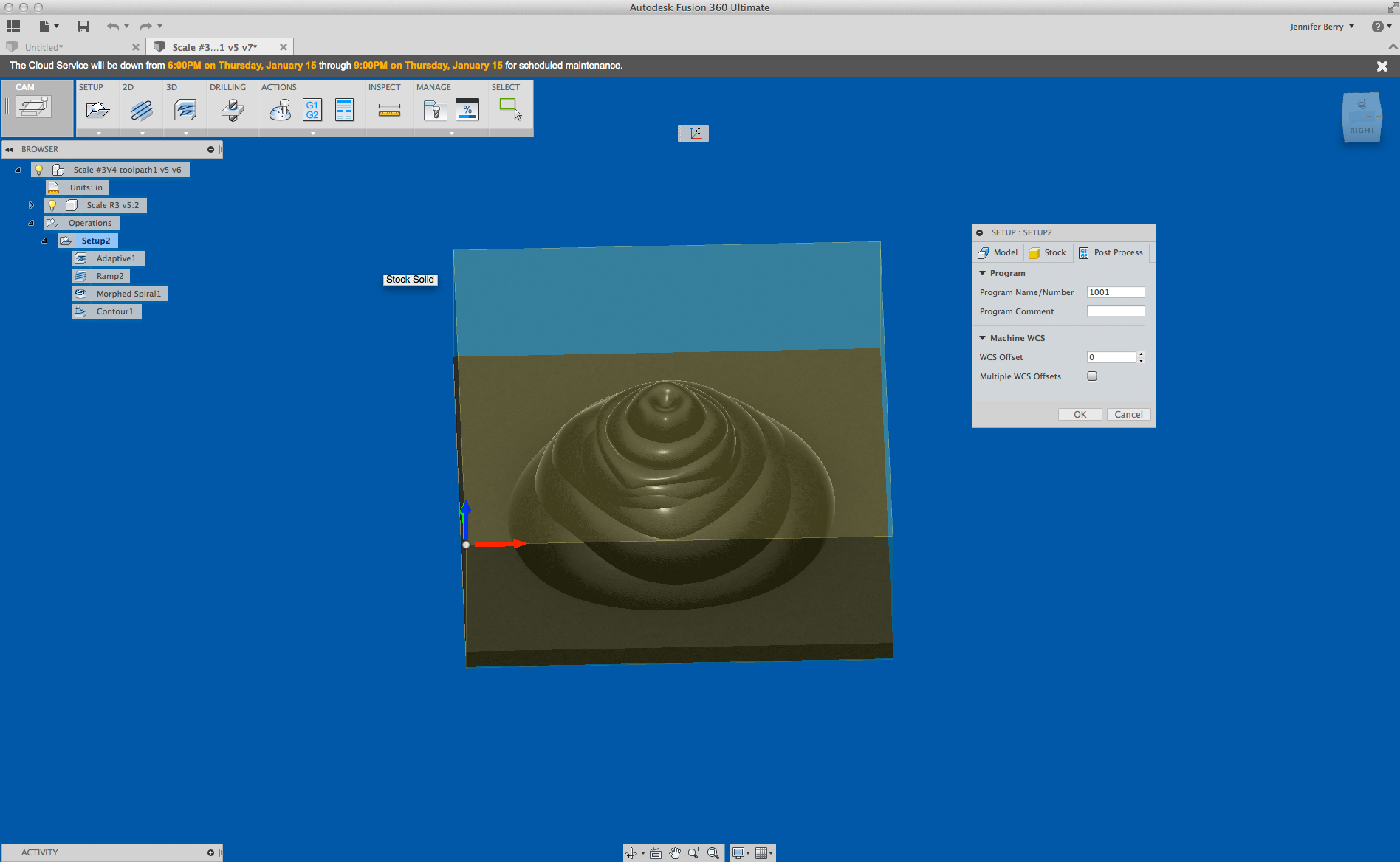 Picture of Set Up Your Toolpath Using CAM