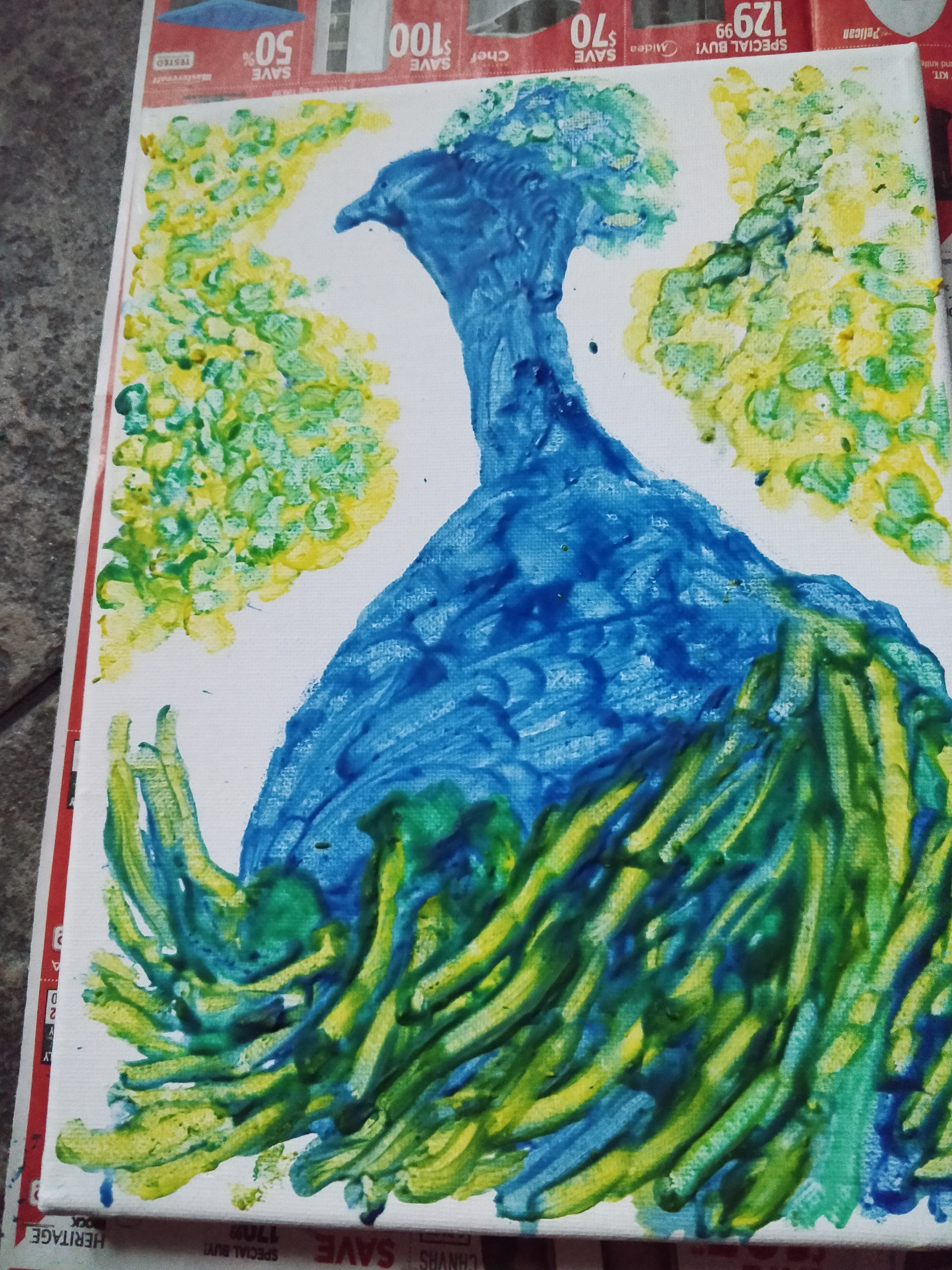 Picture of Crayon Peacock