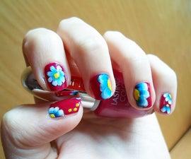 Spring Floral Nail Art