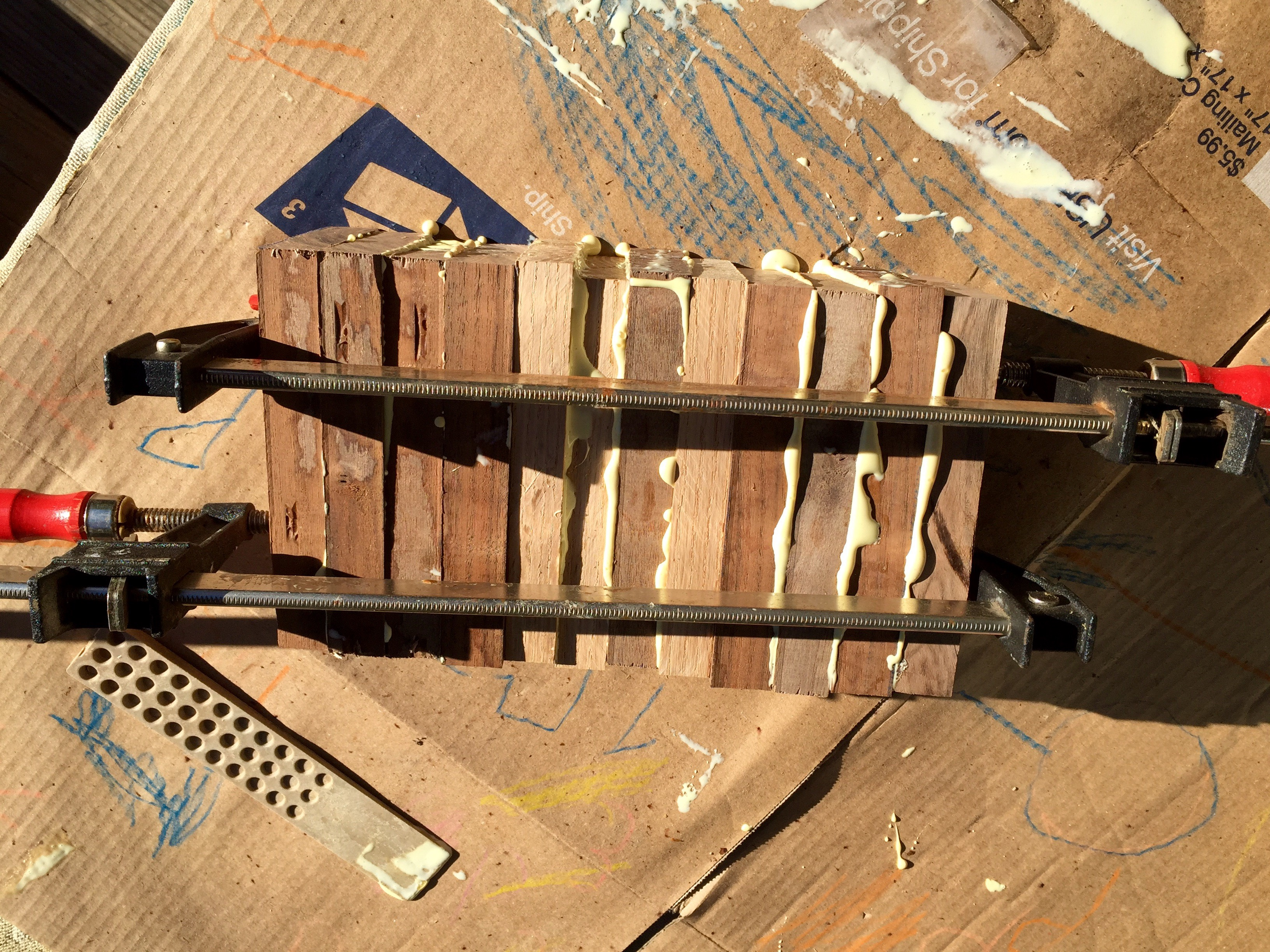 Picture of Scrap Stock: Cut, Glued and Ready