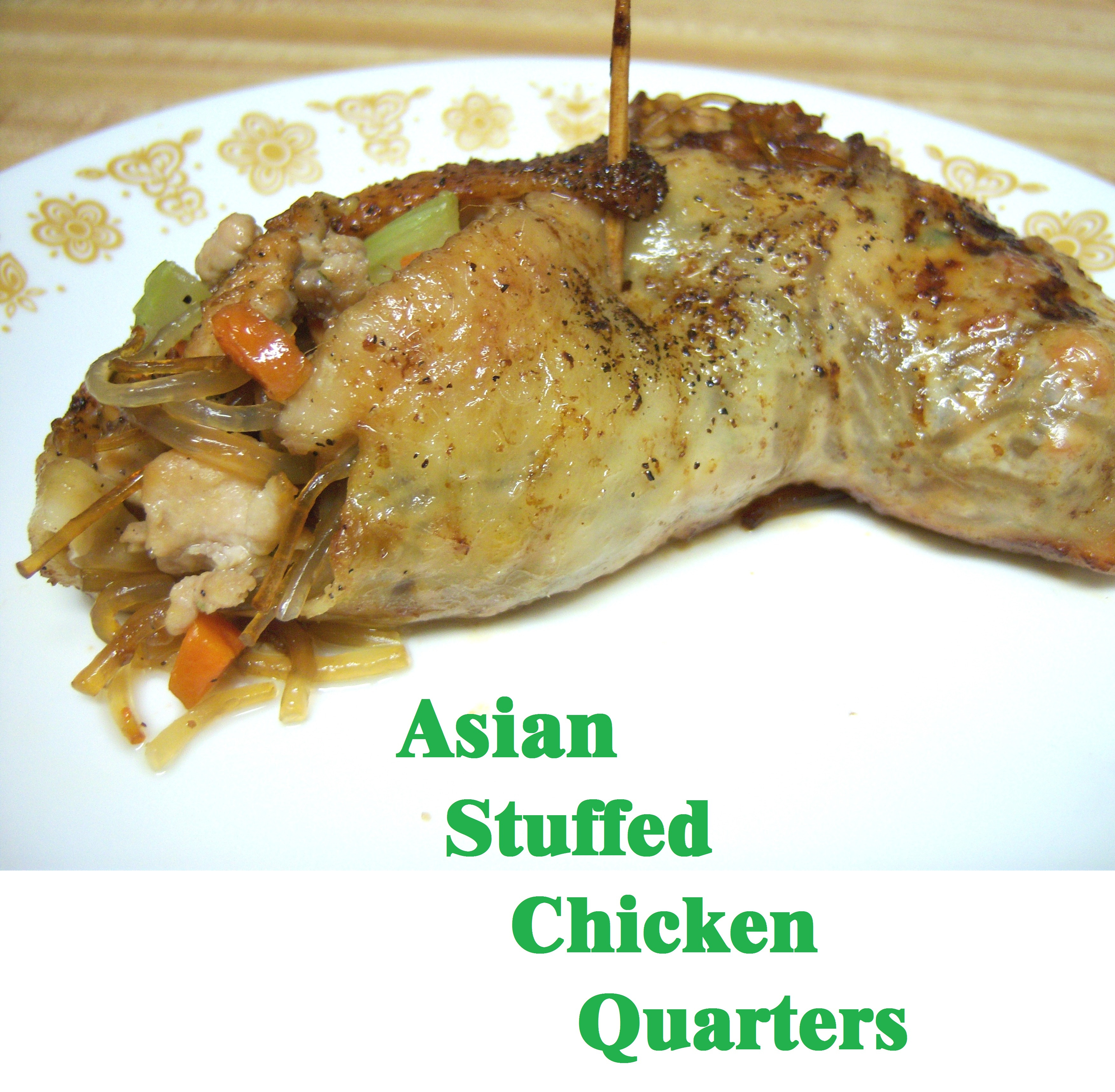 Picture of Asian Stuffed Chicken Quarters