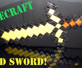How to make an Origami Minecraft Gold Sword (No glue or tape - Sonobe) - TCGames [HD]