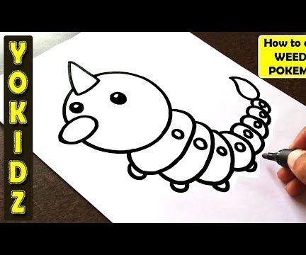 HOW TO DRAW WEEDLE POKEMON