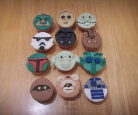 Star wars face cupcakes