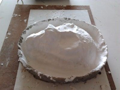 Making the Plaster-Paris Mold.