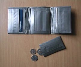 Tri-Fold Duct Tape Wallet (Notes, Cards, ID, Coins)