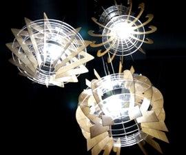 Acrylic & Wooden Chandeliers