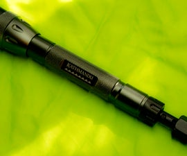 Make a BB gun from a Flashlight! (700fps!)