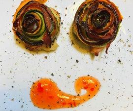 Rainbow Vegetable and Bacon Rolls