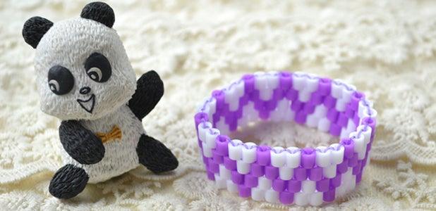 How to Make a Wave Perler Bead Bracelet for Kids