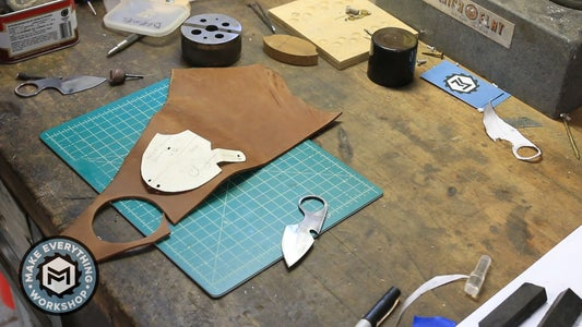 Leather Sheath Layout and Cutting
