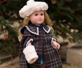 """Make a Tartan Cape and Accessories for an 18"""" Doll"""