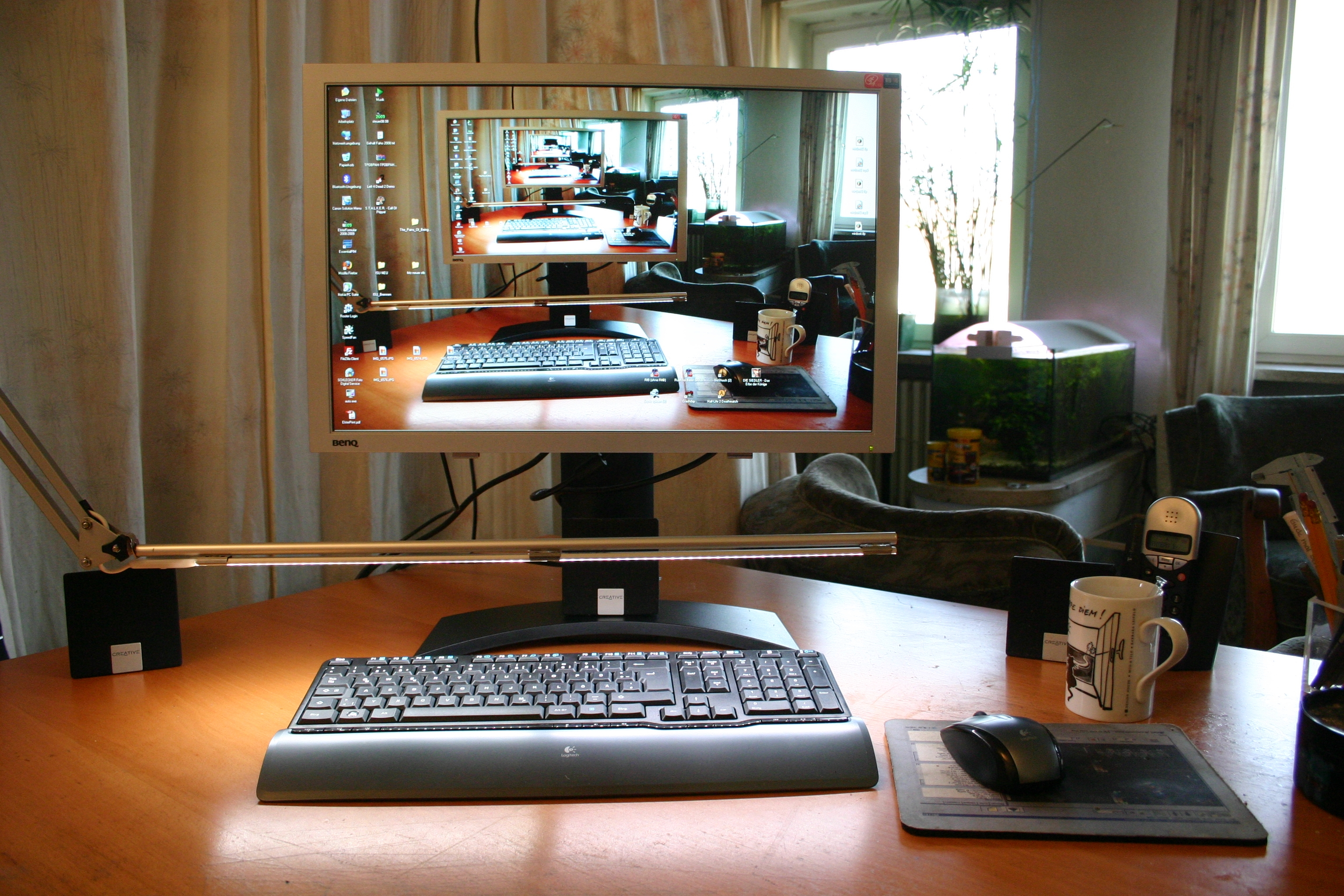 Picture of LED-desktop / Workspace / Keyboard Lamp (IKEA Tertial Hack)