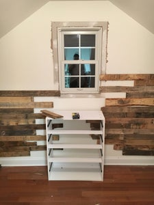 Nail Pallet Boards to Wall