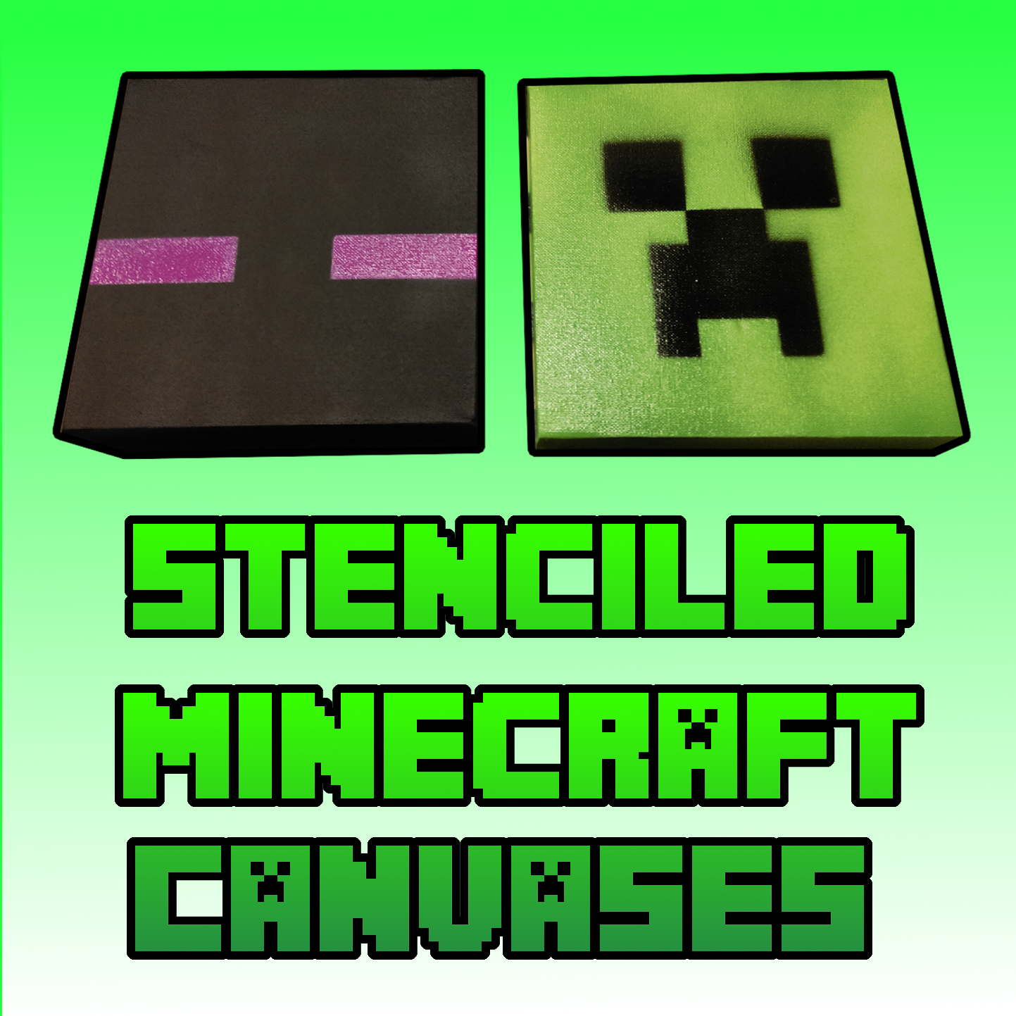 Picture of Stencil and Spray Your Own Minecraft Canvases for Cheap!