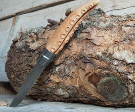 Pirate Folding Knife / Tentacle Opinel Handle