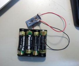 Temperature logger with pro mini & battery only