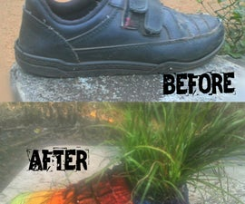 How to Change a Old Shoes Into a Flower Pot (Easy)