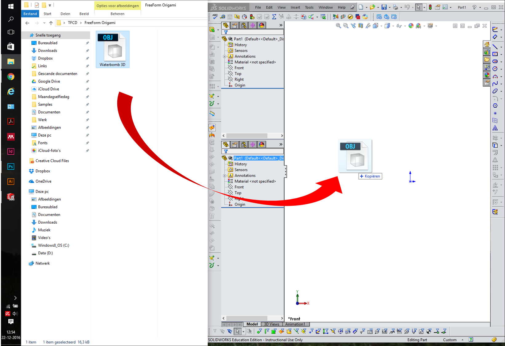 Picture of Import Your Model in SolidWorks