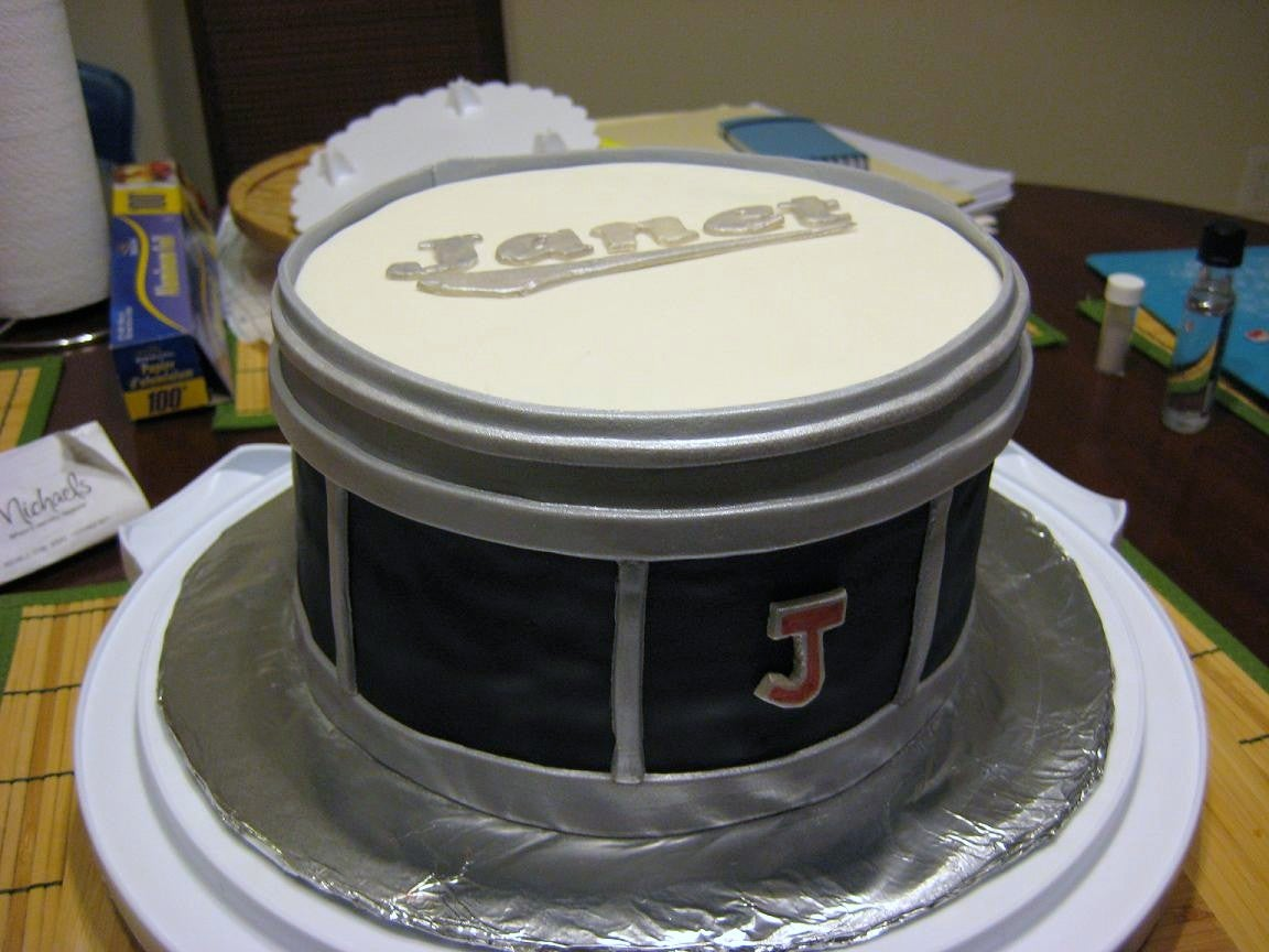 Super A Chocolate Drum Cake 5 Steps With Pictures Instructables Personalised Birthday Cards Veneteletsinfo