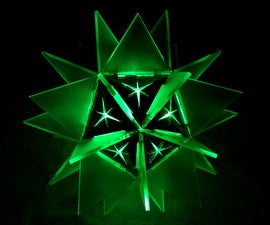 3D Laser Cut LED Star