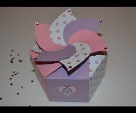 Simple Origami Hexagonal Box - Tutorial ( Scatola Origami Esagonale )