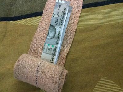 Hide Cash in Cotton Bandage