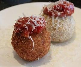 Arancini Balls (Leftover Risotto)