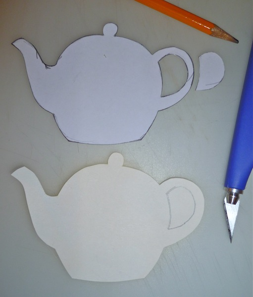 Picture of Cutting Out the Teapots
