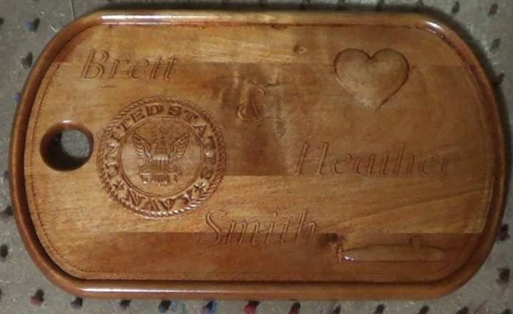 Picture of Giant Wooden Dog Tag