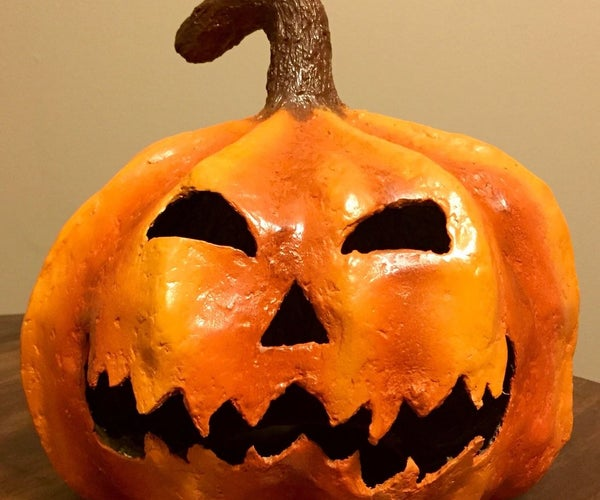 How to Make a Spooky Paper Mache Halloween Pumpkin