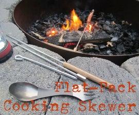 DIY Flat-Pack Collapsible Cooking Skewers