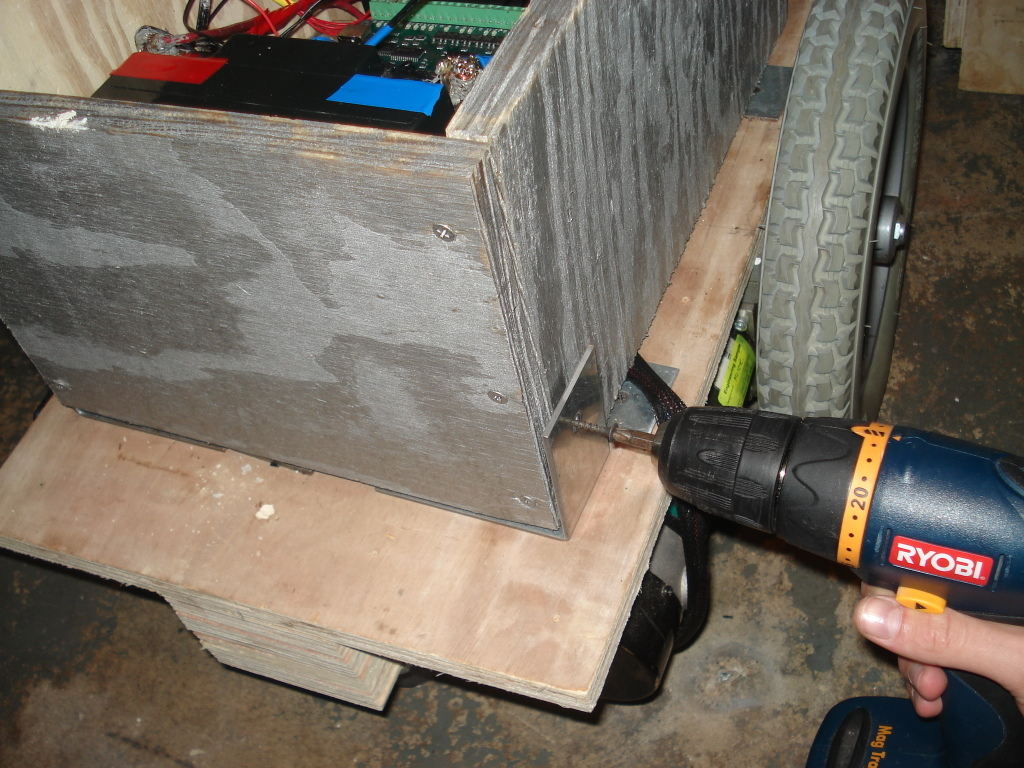 Picture of Fasten the Wooden Enclosure to the Chassis