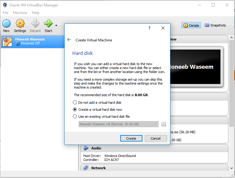 Picture of Create a New Virtual Machine