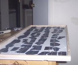 Make a high powered solar panel from broken solar cells