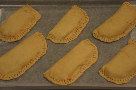 Assembling the Pizza Pockets