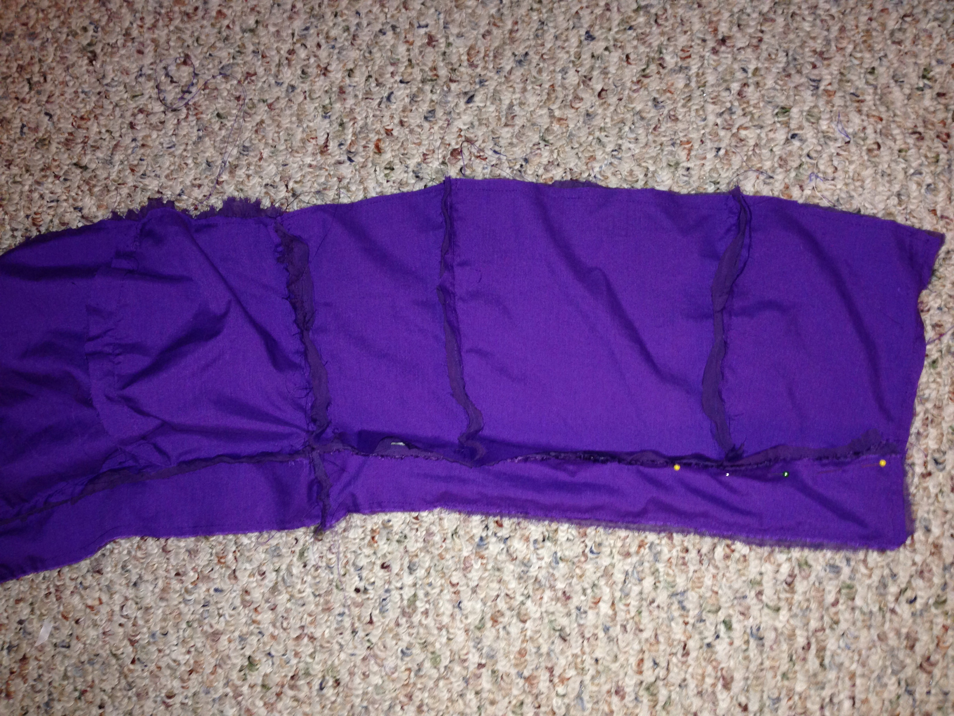 Picture of Sew Outer Fabric to the Back Lining Pieces!