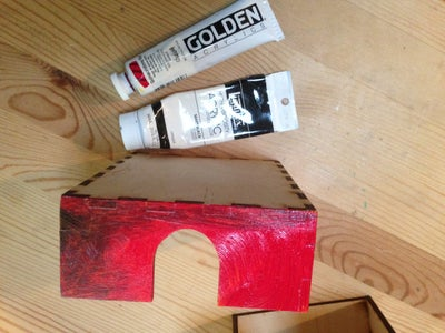 Paint the Front of Your Box - Distressed Red/yellow/orange