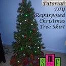 DIY Repurposed Christmas Tree Skirt
