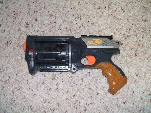 Picture of Modded nerf guns for sale on ebay! I'll mod them just for you.  Look inside.