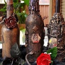 Halloween Mixed Media Bottles