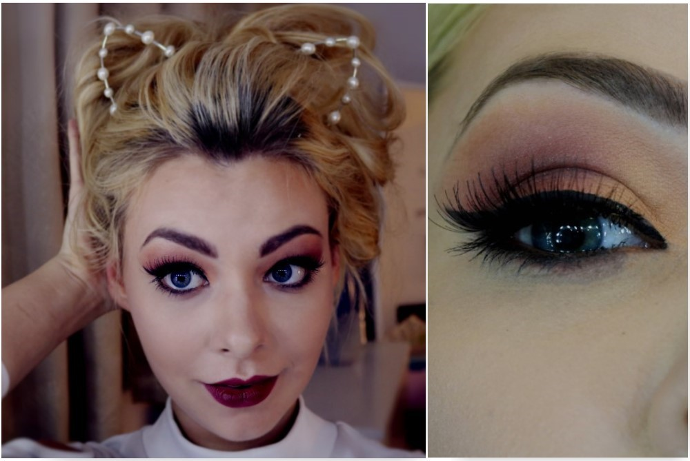 Picture of Thanksgiving Peach Burgundy Makeup Tutorial