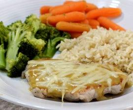 Grilled Pork Loin Chop With Honey Mustard Glaze