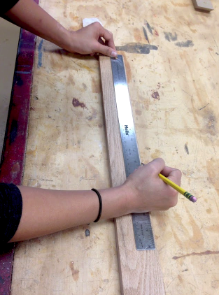 Picture of Measuring and Cutting the TOP and BOTTOM Wood Pieces