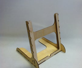 Wooden Laser Cut IPad 2 Stand