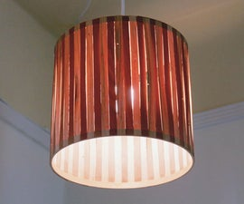 Pendant Lamp From Embroidery Hoops